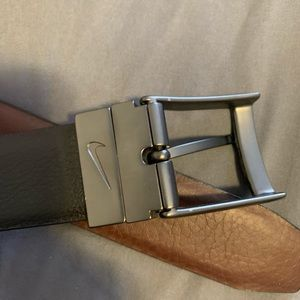 Nike leather reversible belt